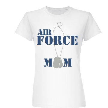 Air Force Mom Tags Junior Fit Basic Bella Favorite Tee