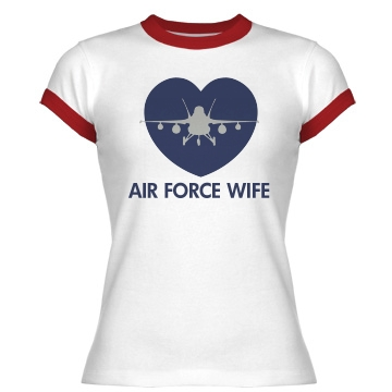 Air Force Wife Junior Fit Bella 1x1 Rib R