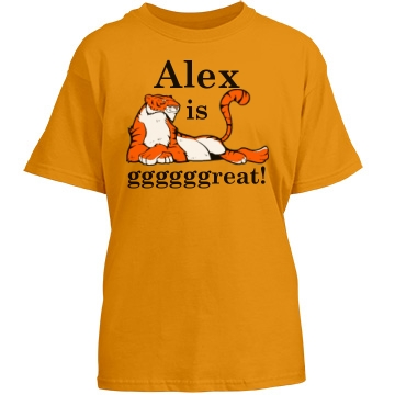Alex Is Gggggreat! Youth Gildan Heavy Cotton Crew Neck Tee