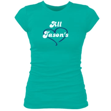 All Jason's Junior Fit Bella Sheer Longer Length Rib Tee