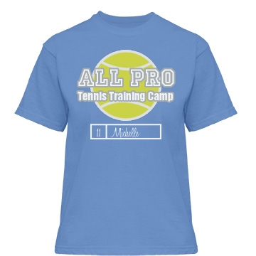 All Pro Tennis Camp Misses Relaxed Fit Gildan Heavy Cotton Tee