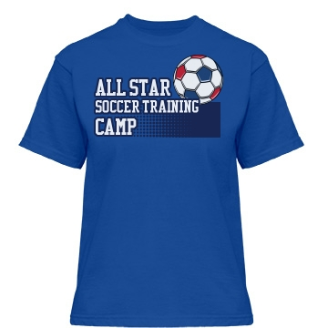 All Star Soccer Training Misses Relaxed Fit Gildan Heavy Cotton Tee