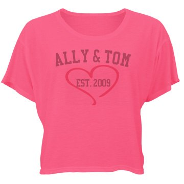 Ally & Tom Bella Flowy Boxy Lightweight Crop Top Tee