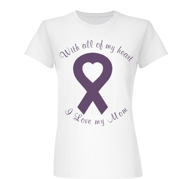 Alzheimers All My Heart Junior Fit Basic Bella Favorite Tee