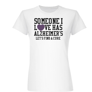 Alzheimers Heart Tee Junior Fit Basic Bella Favorite Tee