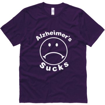 Alzheimers Sucks Unisex Canvas Jersey Tee