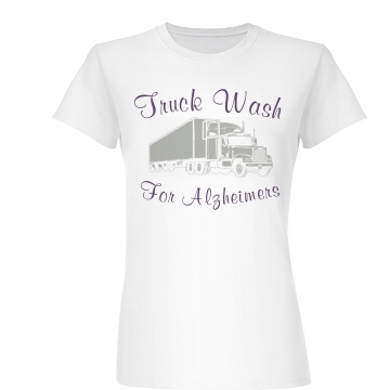 Alzheimer's Truck Wash Junior Fit Basic Bella Favorite Tee