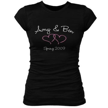 amy & ben Junior Fit Bella Sheer Longer Length Rib Tee