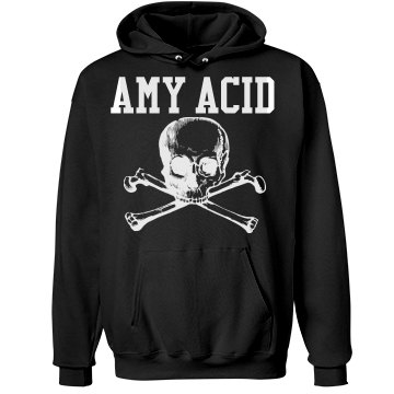 Amy Acid Roller Derby  Unisex Hanes Ultimate Cotton Heavyweight Hoodie