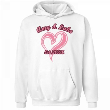 Amy And Luke Hoodie Unisex Hanes Ultimate Cotton Heavyweight Hoodie