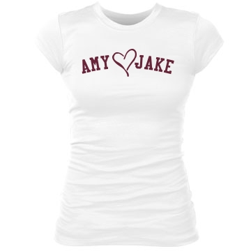 Amy Loves Jake Junior Fit Bella Sheer Longer Length Rib Tee