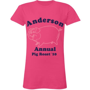 Anderson Pig Roast Junior Fit LA T Fine Jersey Tee