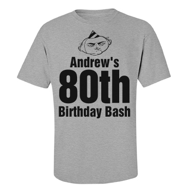 Andrew's 80th Birthday Unisex Basic Port & Compa