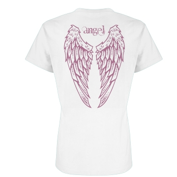 Angel Wing Back Junior Fit Basic Bella Favorite Tee