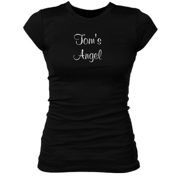 Angel Wings Stones w/Back Junior Fit Bella Sheer Longer Length Rib Tee