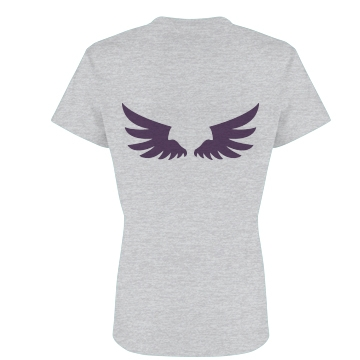 Angel Wings T-shirt Junior Fit Basic Bella Favorite Tee