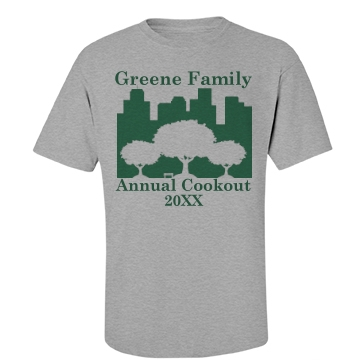 Annual Family Cookout Unisex Basic Port & Company Essential Tee