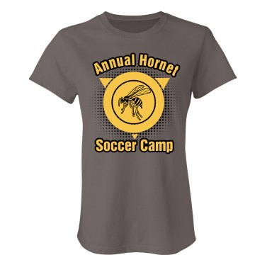 Annual Hornet Soccer Camp Junior Fit Bella Favorite Tee