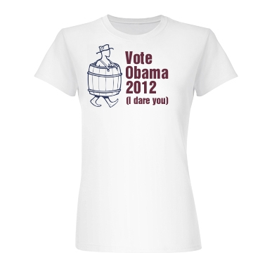 Anti Obama 2012 Junior Fit Basic Bella Favorite Te
