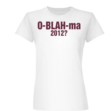 Anti Obama 2012 Junior Fit Basic Bella Favorite Tee