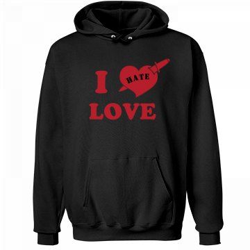Anti-Valentines Hate Love Unisex Hanes Ultimate Cotton Heavyweight Hoodie