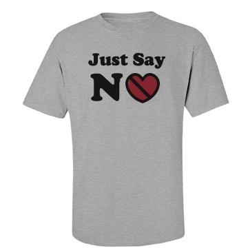Anti-Valentines No Love Unisex Basic Port & Company Essential Tee