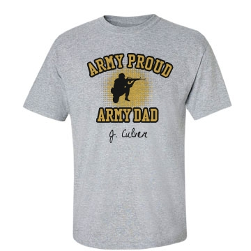 Army Dad Unisex Basic Gildan Heavy Cotton Crew Neck Tee