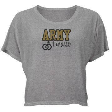 Army Fiancee Ring Bella Flowy Boxy Lightweight Crop Top Tee