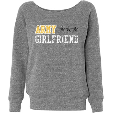 Army Girlfriend Wilson Junior Fit Bella Triblend Slouchy Wideneck Sweatshirt