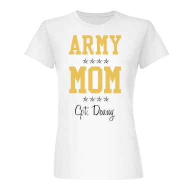 Army Mom Crop Junior Fit Basic Bella Favorite Tee