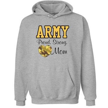 Army Strong Mom Hoodie Unisex Hanes U