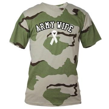 Army Wife Camo Tee