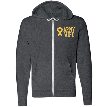 Army Wife Unisex Canvas Fleece Full-Zip Hoodie