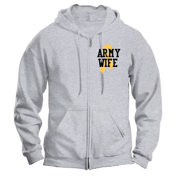 Army Wife Unisex Gildan Heavy Blend Full Zip Hoodie