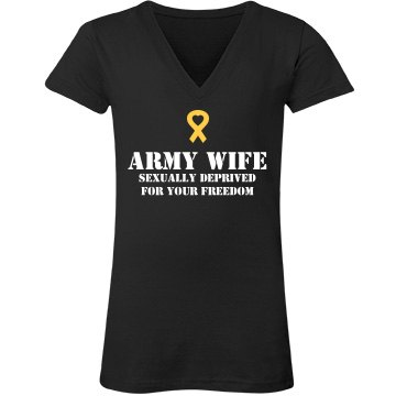 Army Wife with Ribbon