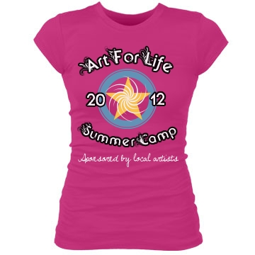 Art For Life Camp Junior Fit Bella Sheer Longer Length Rib Tee