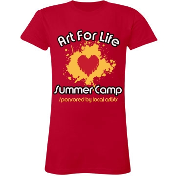 Art For Life Camp Junior Fit LA T Fine Jersey Tee