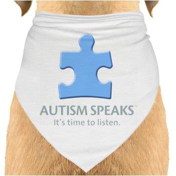 Autism Speaks Dog Bandana