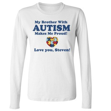 Autism Support Junior Fit Bella Long Sleeve Crewneck Jersey Tee