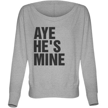 Aye He's Mine Flowy Bella Flowy Lightweight Long Sleeve Dolman Tee