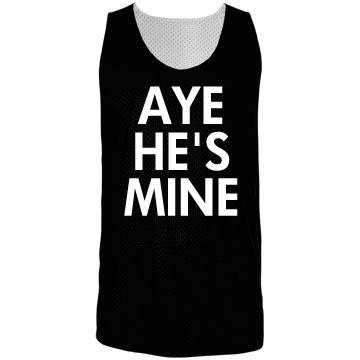 Aye He's Mine Girl Jersey Badger Sport