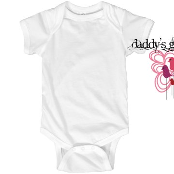 Daddy's girl Infant Rabbit Skins Lap Shoulder Creeper
