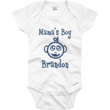 Mama's Boy Infant Bella Baby Long Sleeve Thermal Creeper