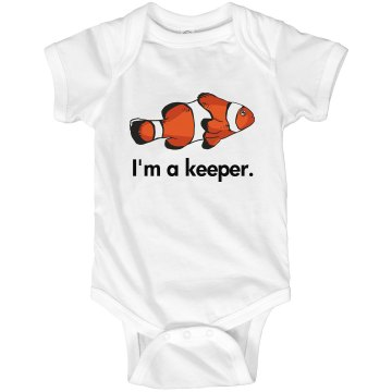 I'm a Keeper Infant Rabbit Skins Lap Shoulder Creeper