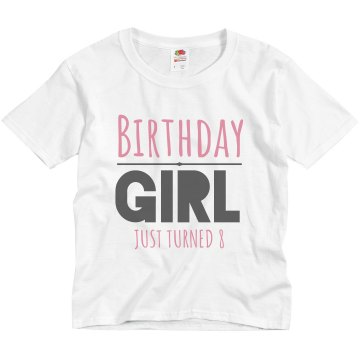 Nina's 8th Birthday Youth Basic Gildan Ultra Cotton Crew Neck Tee