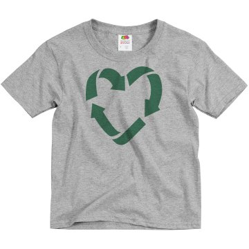 Recycle Love Youth Basic Gildan Ultra Cotton Crew Neck Tee