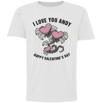 I Love You Andy Youth Basic Gildan Ultra Cotton Crew Neck Tee
