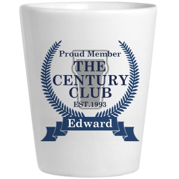 The Century Club Shot Ceramic Shotglass