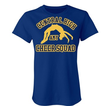 Cheerleader Cheer Squad Junior Fit Bella Crewneck Jersey Tee