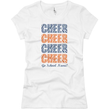 School Colors Cheer Tee Junior Fit Basic Bella Favorite Tee